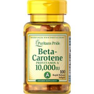 Puritan's Pride Бета-каротин 10,000 IU 100 таблеток