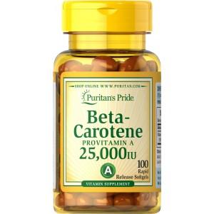 Puritan's Pride Бета-каротин 25,000 IU 100 таблеток