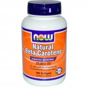 NOW FOODS Beta-Carotene (Natural) 25,000 IU 180 Softgels