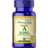 Puritan's Pride Витамин А 10,000 IU 100 таблеток