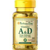 Puritan's Pride Витамин A&D 10,000/400 IU 100 капсул