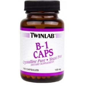 TWINLAB Витамин B-1 100 мг 100 капсул