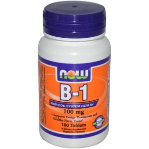 NOW FOODS Витамин B-1 100 мг 100 таблеток