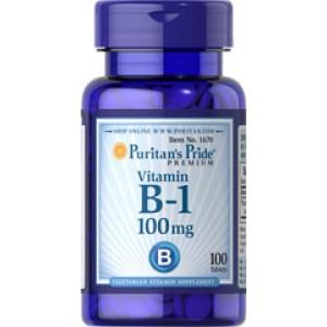 Puritan's Pride Витамин В-1 100 мг 100 таблеток