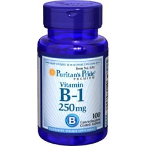 Puritan's Pride Витамин В-1 250 мг 100 таблеток
