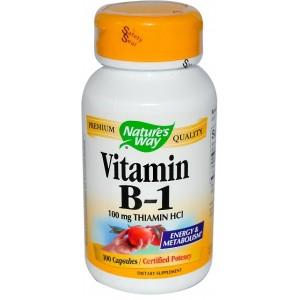 NATURE'S WAY Витамин B-1 100 капсул
