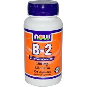NOW FOODS Витамин B-2 100 мг 100 капсул