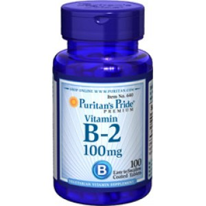 Puritan's Pride Витамин В-2 100 мг 100 таблеток