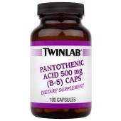 TWINLAB Пантотеновая кислота - витамин В-5 (500 мг) 100 капсул