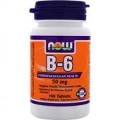 NOW B-6 (50mg) 100 таблеток