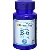 Puritan's Pride Витамин В-6 100 мг 100 таблеток