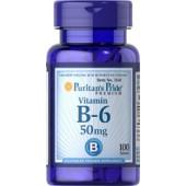 Puritan's Pride Витамин В-6 50 мг 100 таблеток