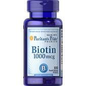 Puritan's Pride Биотин 1000 мкг 100 мягких таблеток