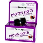 TWINLAB Биотин Капли (3000 мкг) Смешанная Берри 60 таблеток