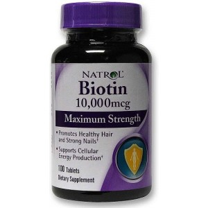 NATROL Биотин 10,000 мкг Максимальная сила 100 таблеток