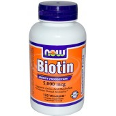 NOW Биотин (5000 мкг) 60 капсул