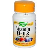 NATURE'S WAY Витамин В12 (2000 мкг) Cherry 100 таблеток