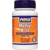 NOW Метил В12 Метилкобаламин 5000 мкг 60 леденцов