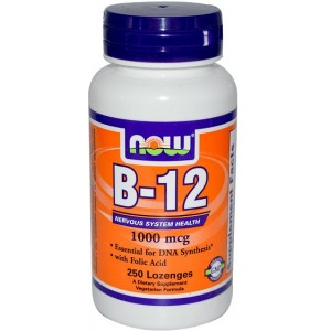 NOW Жевательные B-12 (5000 мкг) 60 таблеток