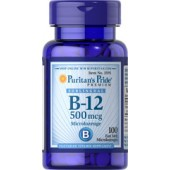 Puritan's Pride Витамин B-12 500 мкг 100 леденцов