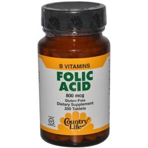 COUNTRY LIFE Фолиевая кислота (800 мкг) 100 таблеток
