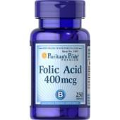 Puritan's Pride Фолиевая кислота 400 мкг 250 таблеток