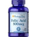 Puritan's Pride Фолиевая кислота 800 мкг 250 таблеток