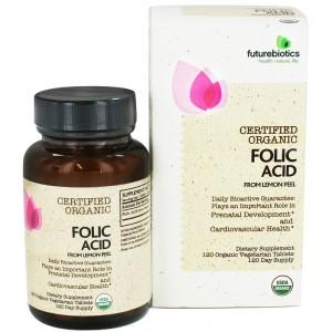 FUTUREBIOTICS Сертифицированные органические - Фолиевая кислота 120 таблеток