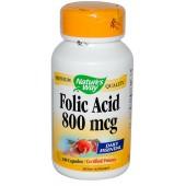 NATURE'S WAY Фолиевая кислота 100 капсул