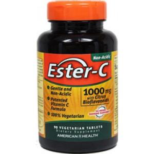 AMERICAN HEALTH Витамин С Ester-C 1000мг с биофлавоноидами 90 таблеток