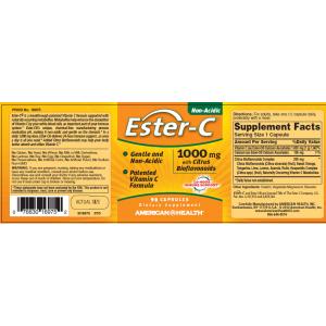 AMERICAN HEALTH Витамин С Ester-C 1000мг с биофлавоноидами 90 капсул
