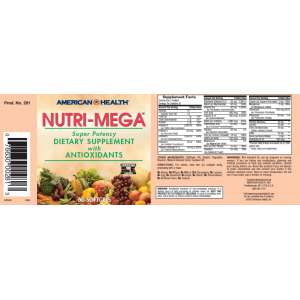 AMERICAN HEALTH Мультивитамины NUTRI-MEGA 60 таблеток
