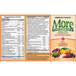 AMERICAN HEALTH Мультивитамины More Than A Multiple (сердечный комплекс) 90 таблеток