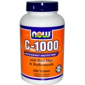NOW C-1000 with Rose Hips and Bioflavonoids 100 tabs