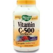 NATURE'S WAY Витамин С-500 с шиповником 100 капсул