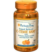Puritan's Pride Vitamin C-1000 mg with Rose Hips 60 Tablets