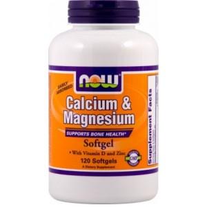 NOW Кальций и магний с витамином D и цинка 120 капсул