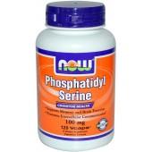 NOW Фосфатидилсерином (100 мг) с экстрактом гинкго билоба 50 капсул