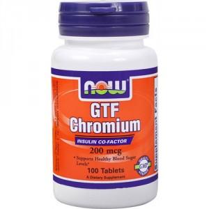 NOW Хром GTF 200 мкг 100 таблеток