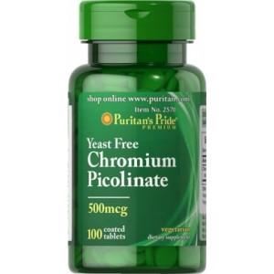 Puritan's Pride Хром пиколинат 500 мкг 100 таблеток