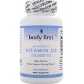 BODY FIRST Витамин D3 (10000 МЕ) 60 капсул
