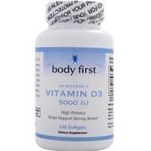 BODY FIRST Витамин D3 (5000 МЕ) 60 капсул