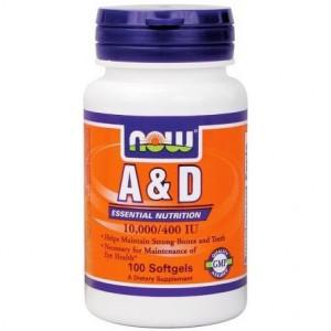 NOW FOODS Витамин A&D 10,000/400 IU 100 капсул