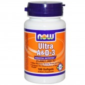 NOW Ultra A-D3 25000 1000-IU 100 Softgels