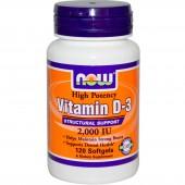 NOW FOODS Витамин D3 2000 МЕ 120 капсул