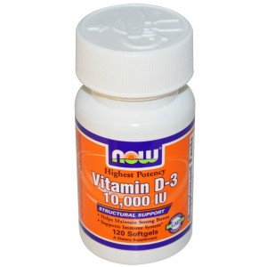 NOW FOODS Витамин D3 10,000 МЕ 120 капсул