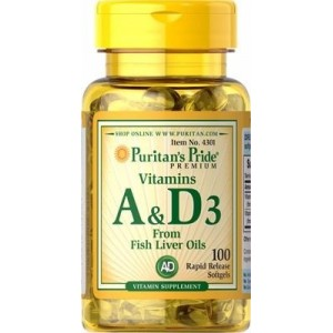 Puritan's Pride Витамин A&Dз 5,000/400 IU 100 капсул