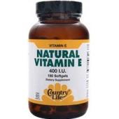 COUNTRY LIFE Природный витамина Е (400 МЕ) 60 капсул