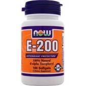 NOW E-200 D-альфа токоферол 100 капсул