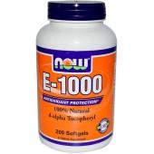 NOW E-1000 д-альфа токоферол 100 капсул